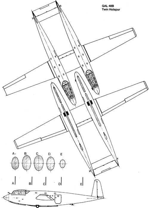 GAL 48B Twin Hotspur