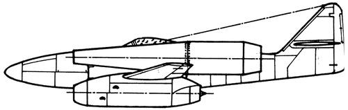 Messerschmitt Me 262 + Ramjet x2