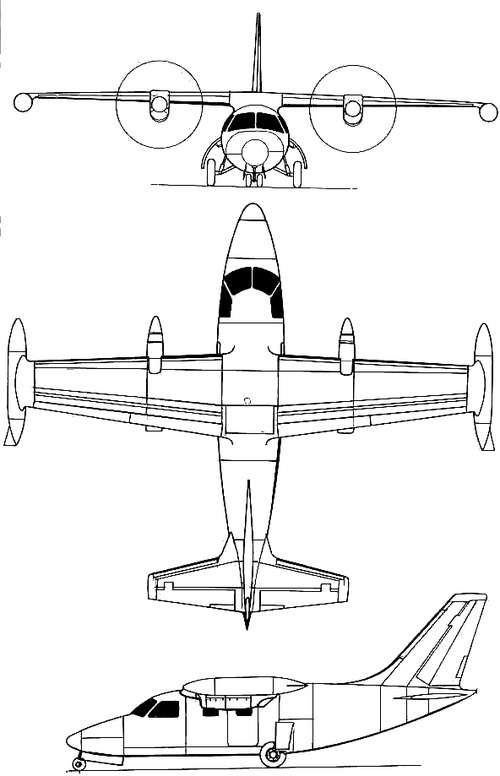 Mitsubishi MU-2 Peacock