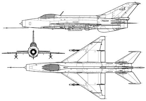 PLAAF Chengdu F-7 II (MiG-21)
