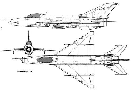 PLAAF Chengdu F-7 IIA (MiG-21)
