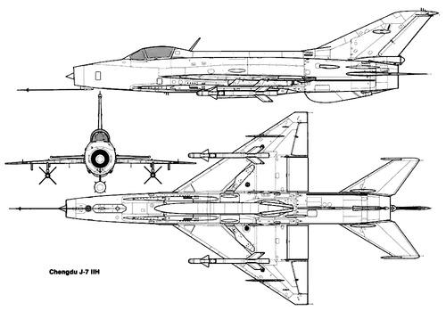 PLAAF Chengdu F-7 IIH (MiG-21)