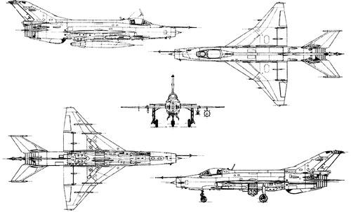 PLAAF Chengdu F-7 MG (MiG-21)
