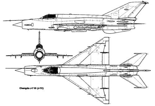 PLAAF Chengdu F-7C (MiG-21)