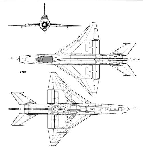 PLAAF Chengdu F-7EB (MiG-21)