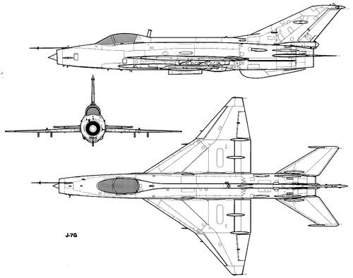 PLAAF Chengdu F-7G (MiG-21)