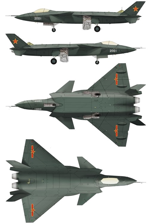 PLAAF Chengdu J-20 Mighty Dragon