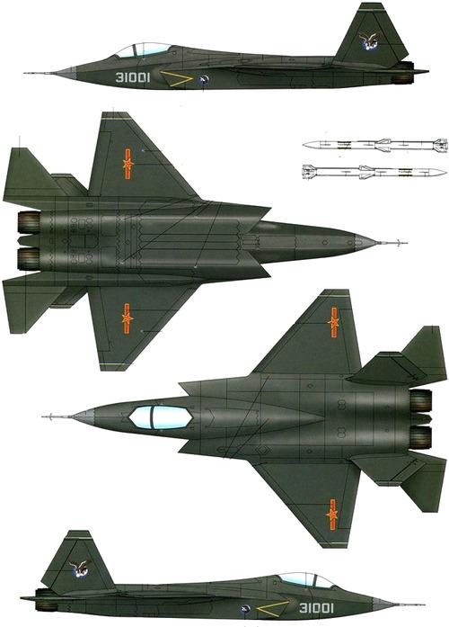 PLAAF Shenyang J-31 Gyrfalcon