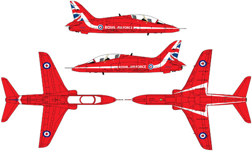 Red Arrows 2018 livery BAe Hawk Jet