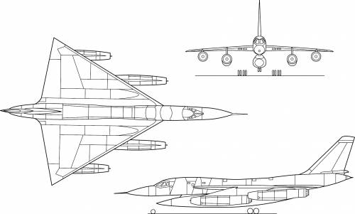 UH AC B-58 Hustler