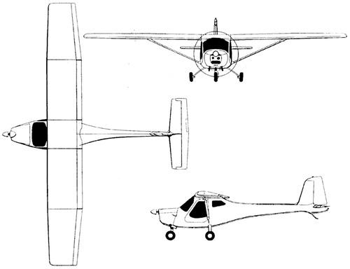 Zaklady Lotnicze 3Xtrim 450U