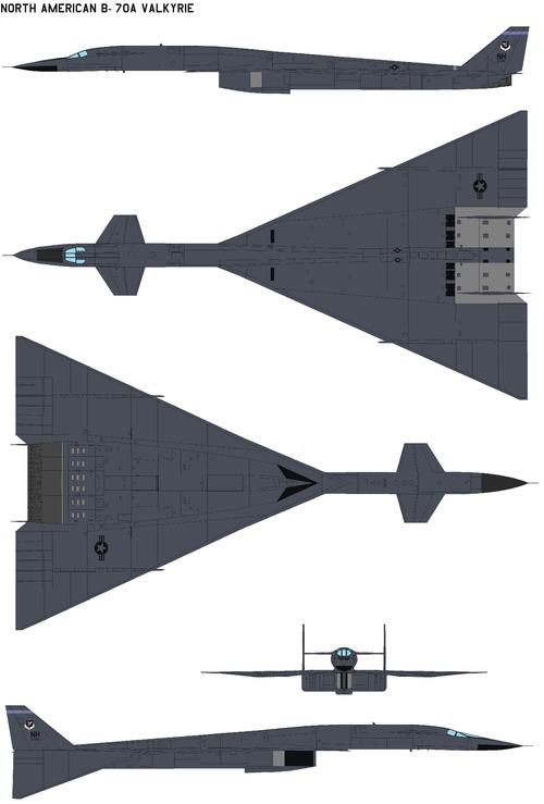 North American B-70A Valkyrie