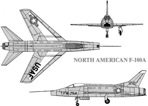 North American F-100A Super Saber