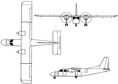 Pilatus Britten-Norman BN2T-4S Defender 4000