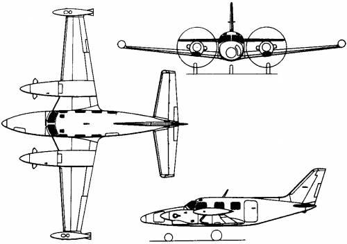 Piper PA-31T Cheyenne II / T-1020 / T-1040 (USA) (1973)