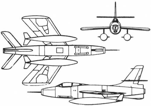 Republic XF-91 Thunderceptor (USA) (1949)