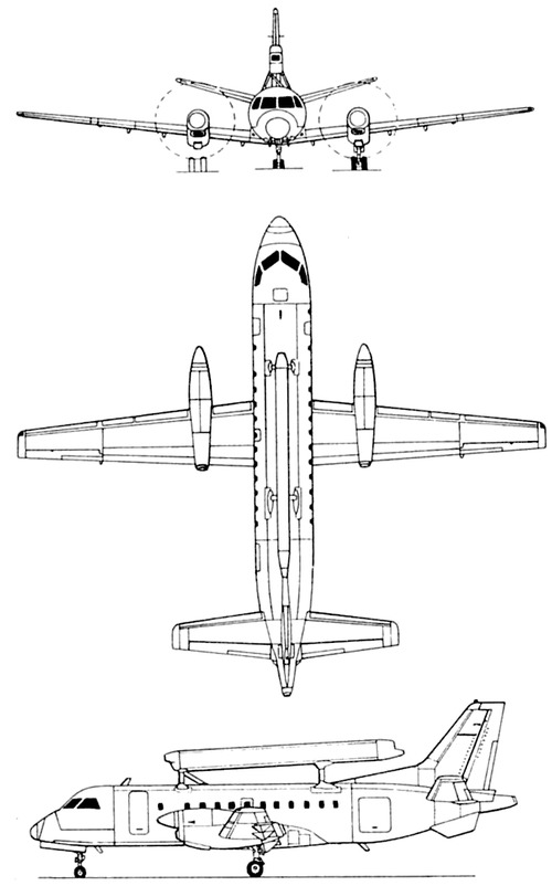 SAAB 340 AEW S-100B Argus