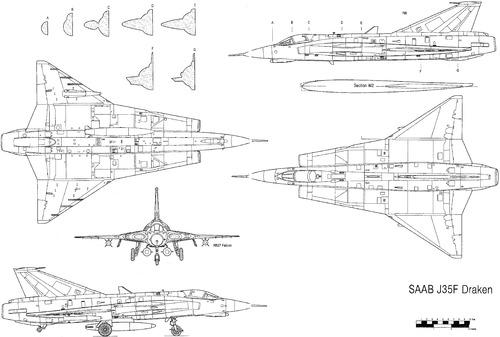 SAAB J 35F Draken