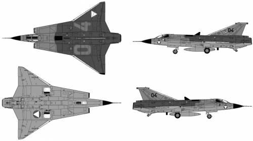 SAAB J 35O Draken