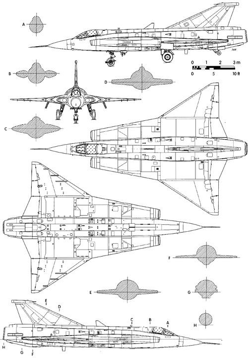 SAAB J-35OE Draken