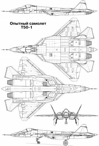 Sukhoi PAK FA t-50 pro type