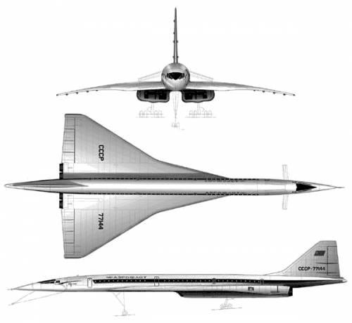 Tupolev Tu-144 Supersonic Airliner