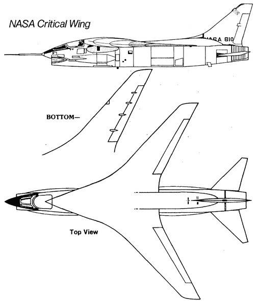 Vought F-8 Crusaider NASA Critical Wing
