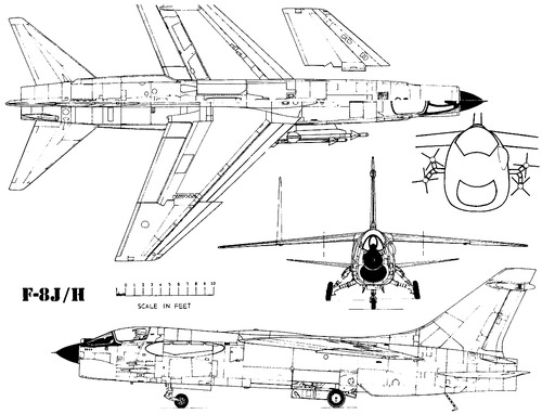 Vought F-8J-H Crusaider
