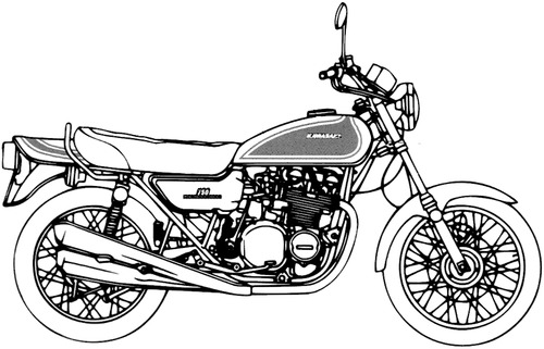 Kawasaki 750 RS (Z2) (1973)
