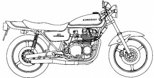 Kawasaki 750 ZII Custom