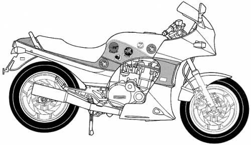 Kawasaki GPZ900 Ninja A2 (Top Gin) (1987)