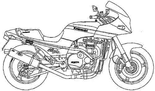 Kawasaki GPZ900R Ninja Tsukigi