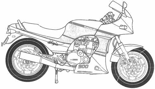 Kawasaki GPZ900R Ninja Type-A2