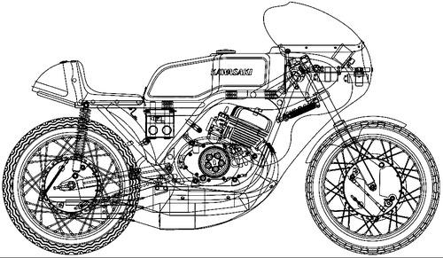 Kawasaki H1R 500cc (1970)