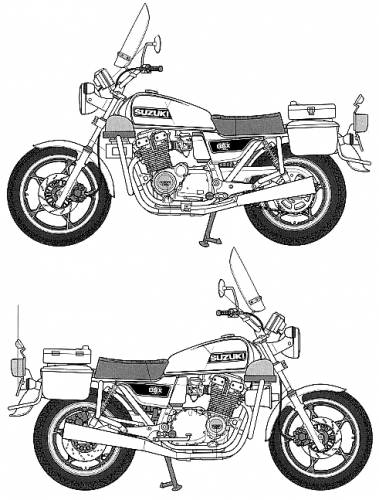 Suzuki GSX 750 Police Bike