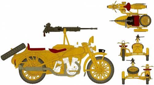 IJA Rikuo +Type 92 MG