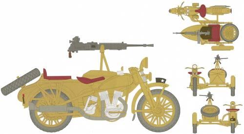 IJA Rikuo with Type 92 MG