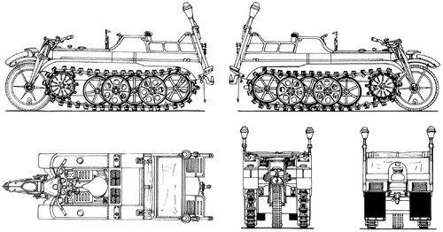 Sd.Kfz.2 Kleines Kettenkraftrad HK 101 S.II