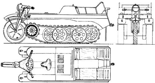 Sd.Kfz.2 NSU HK 101 Kleines Kettenkraftrad