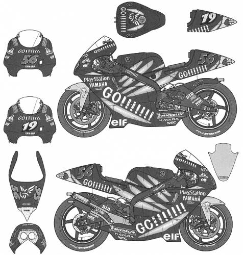 Tech3 Yamaha YZR500 (2001)