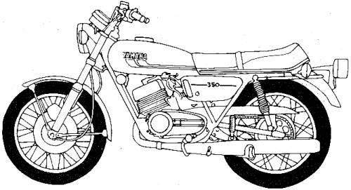 Yamaha RD350B (1975)