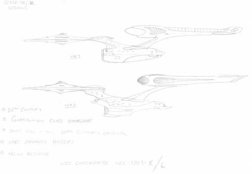 25th Century Constitution class Starships Neon Filter