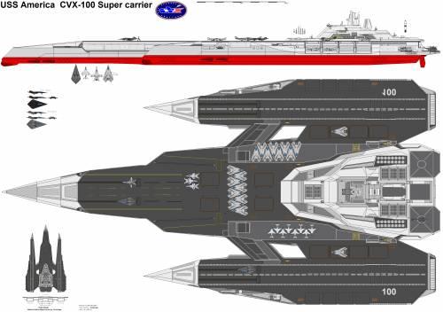 CVX-100 USS America Supercarrier