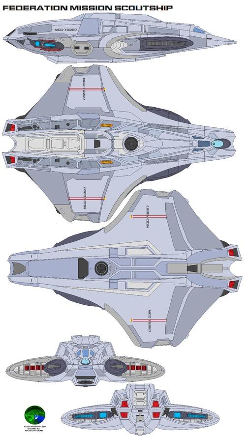 Federation mission scoutship