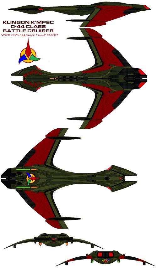 Klingon K'mpec D-44 class Battle Cruiser