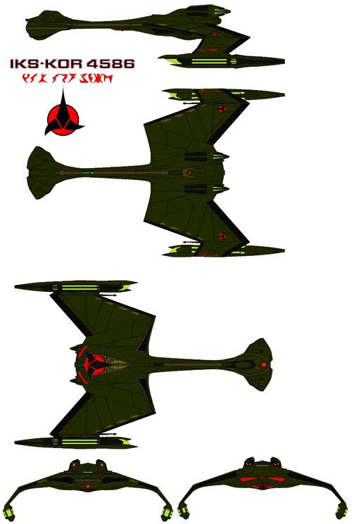Klingon Kang D-12 Class Battle Cruiser IKS-Kor 4586