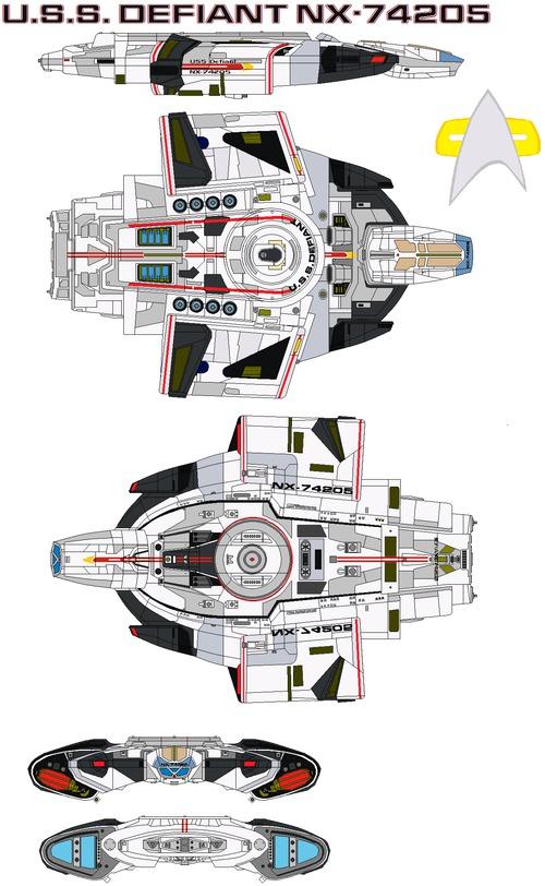 USS Defiant NX-74205 refit