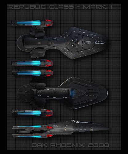Submit Vat Online >> Blueprints > Science fiction > Star Trek U.F.P. and Starfleet - Heavy Cruisers > Republic Mk II ...