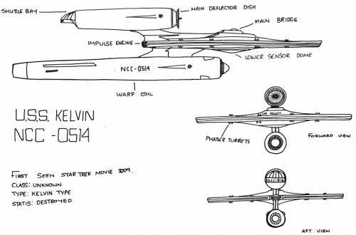 USS KELVIN NCC -0514