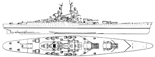 NMF Jean Bart 1959 [Battleship]